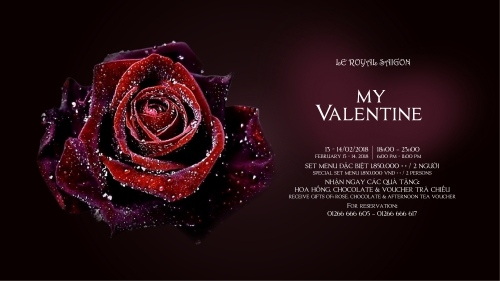 My Valentine – Intense Valentine's Day at Le Royal Saigon